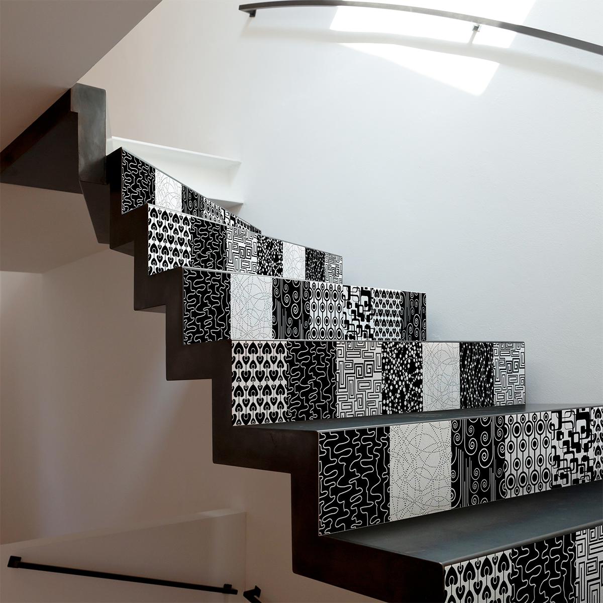 stickers escalier carreaux de ciment meja x 2 ambiance. Black Bedroom Furniture Sets. Home Design Ideas