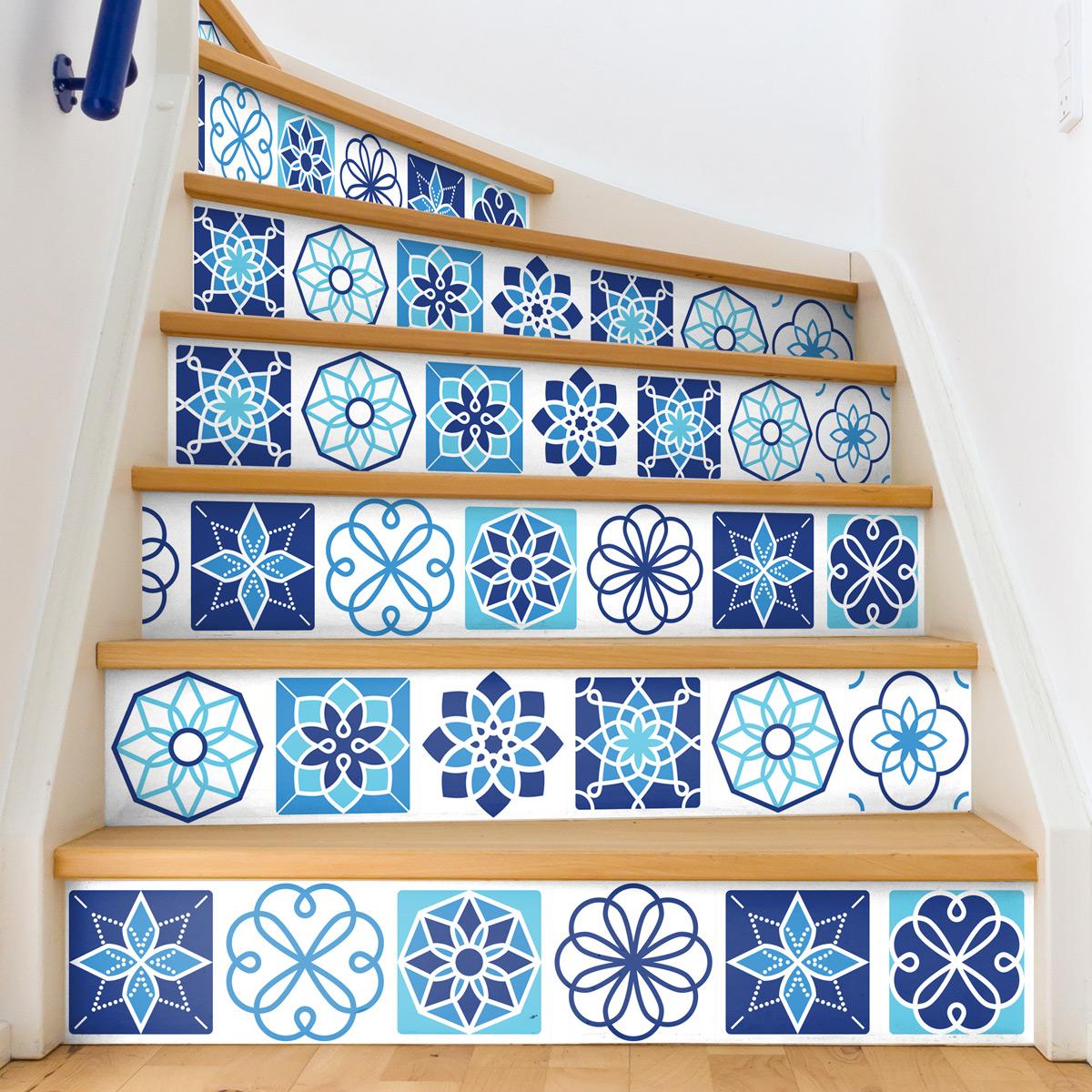 stickers escalier carreaux de ciment tofinto x 2 ambiance. Black Bedroom Furniture Sets. Home Design Ideas