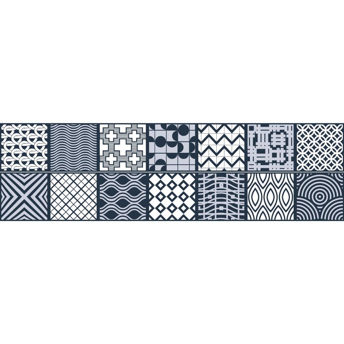 stickers escalier carreaux de ciment yorik x 2 ambiance sticker col stairs ros b060 stickers. Black Bedroom Furniture Sets. Home Design Ideas