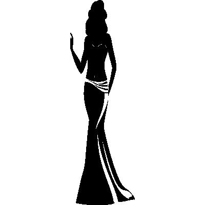 femme robe elegante stickers murals With robe de cocktail combiné avec swarovski collier transparent