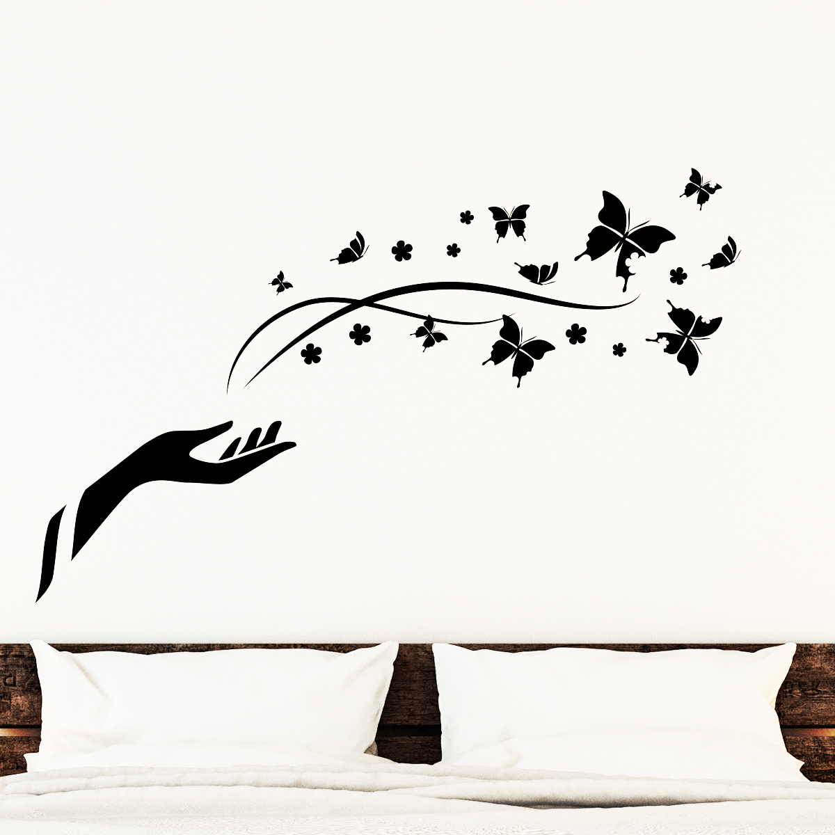 stickers muraux animaux sticker papillons de la libert ambiance. Black Bedroom Furniture Sets. Home Design Ideas