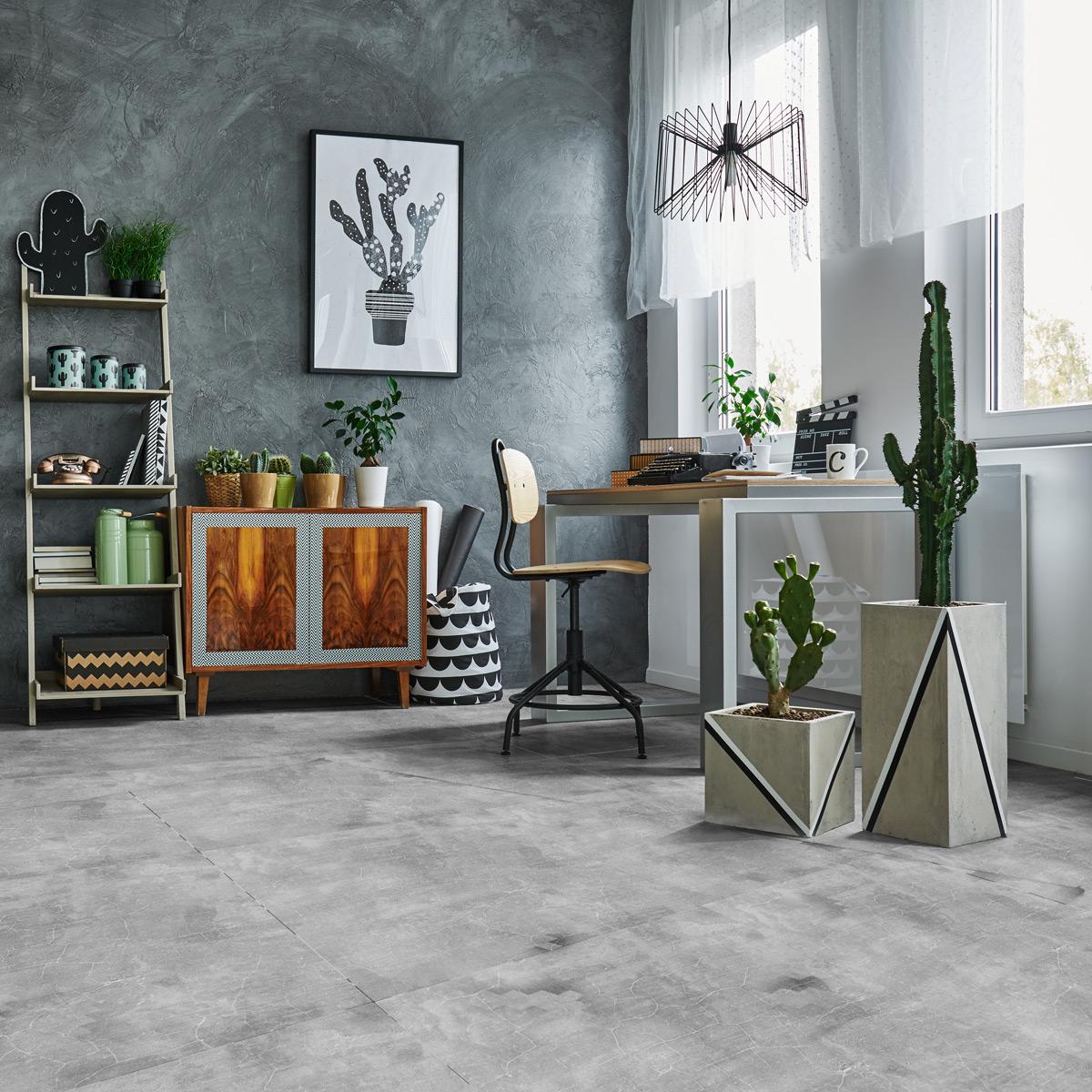 stickers sol carrelages anti d rapant dalle de beton cir. Black Bedroom Furniture Sets. Home Design Ideas