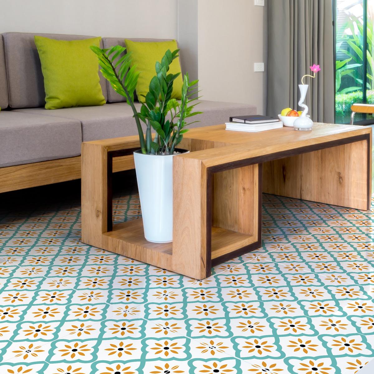stickers sol carrelages anti d rapant marrakech salle de bain et wc salle de bain ambiance. Black Bedroom Furniture Sets. Home Design Ideas