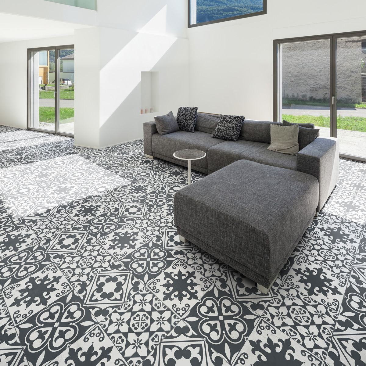 stickers sol carrelages leandro anti d rapant cuisine. Black Bedroom Furniture Sets. Home Design Ideas
