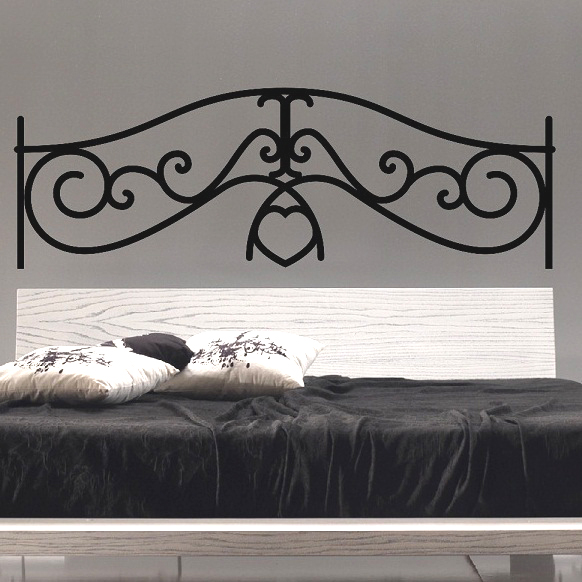 t te de lit coeur stickers muraux chambre. Black Bedroom Furniture Sets. Home Design Ideas