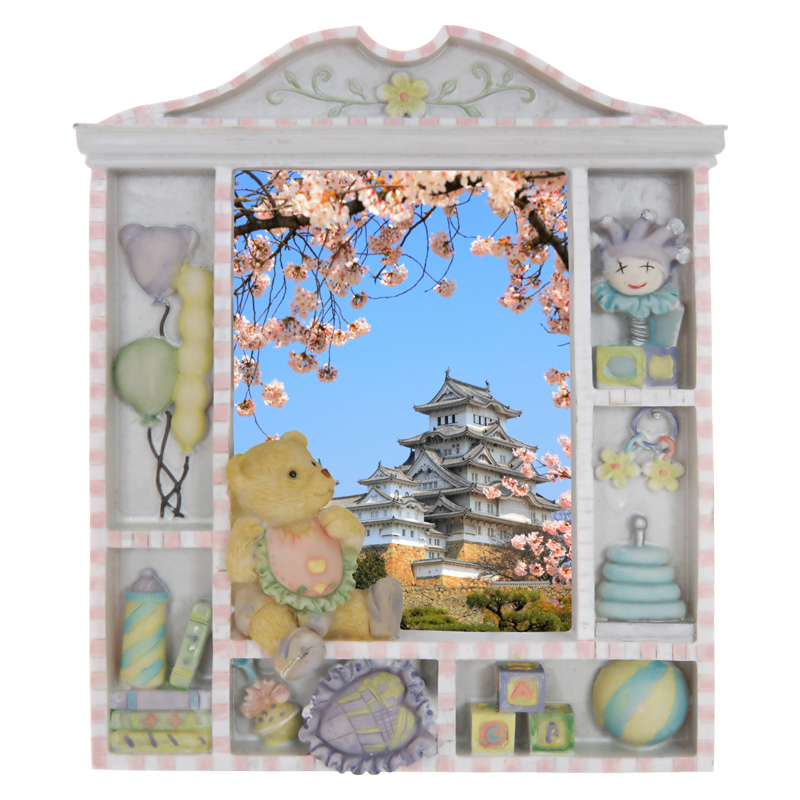 sticker trompe l 39 oeil himeji castle pour chambre d 39 enfants. Black Bedroom Furniture Sets. Home Design Ideas