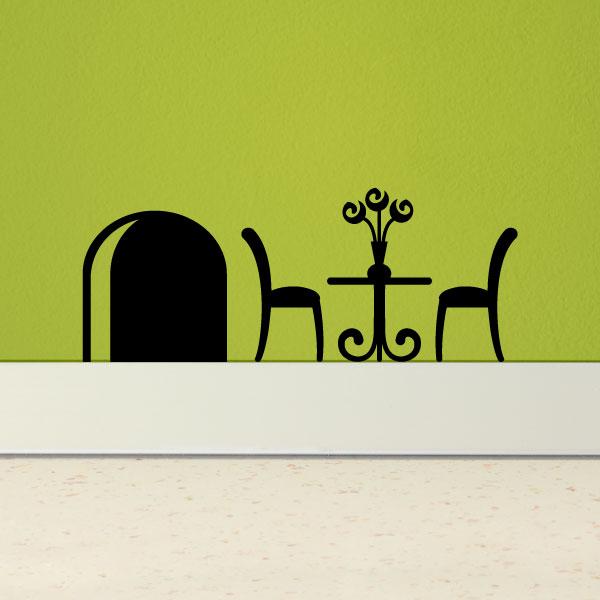 stickers pour les b b s sticker trou de souris et une table basse ambiance. Black Bedroom Furniture Sets. Home Design Ideas
