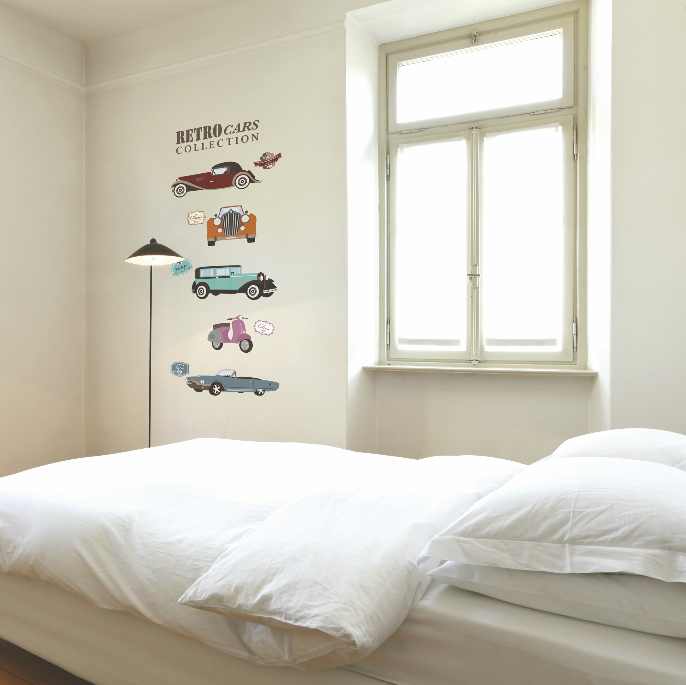 Sticker voitures anciennes stickers chambre ambiance - Stickers de chambre ...