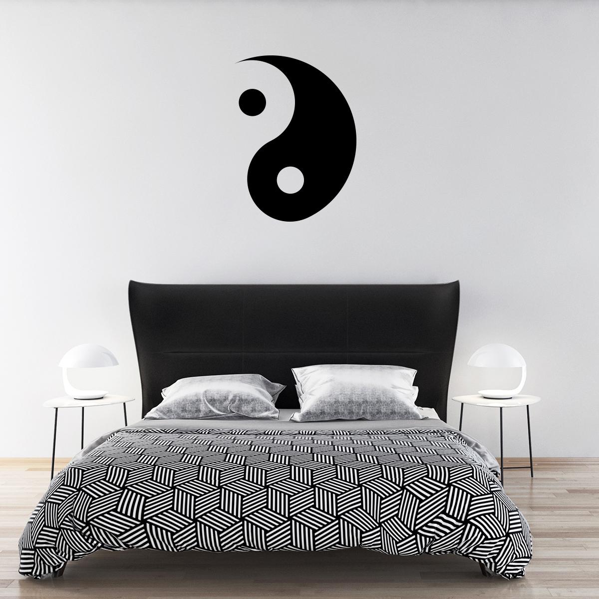 Ying yang stickers deco design for Salle de bain yin yang
