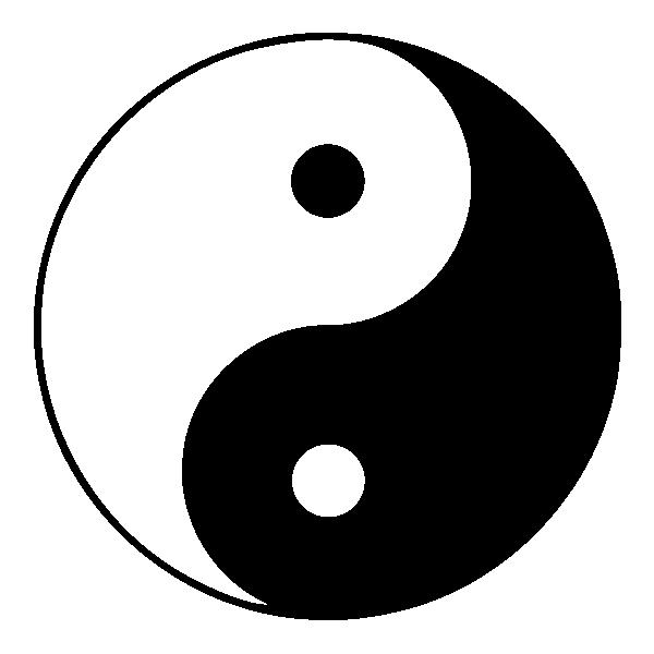 Ying yang stickers deco design for Chambre yin yang