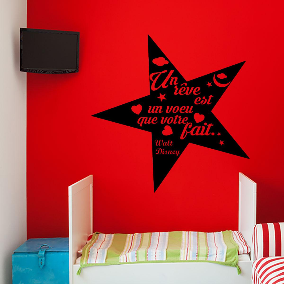 stikcker citation un r ve est un voeu walt disney stickers citations fran ais ambiance sticker. Black Bedroom Furniture Sets. Home Design Ideas