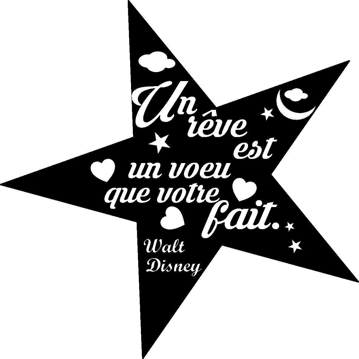 Stikcker Citation Un R 234 Ve Est Un Voeu Walt Disney Stickers Citations Fran 231 Ais Ambiance Sticker