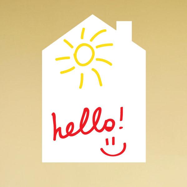 Stickers tableaux et ardoises sticker ardoise maison ambiance - Stickers pour maison ...