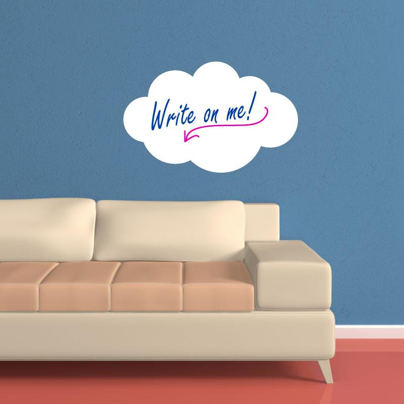 stickers tableaux et ardoises sticker ardoise nuage ambiance. Black Bedroom Furniture Sets. Home Design Ideas