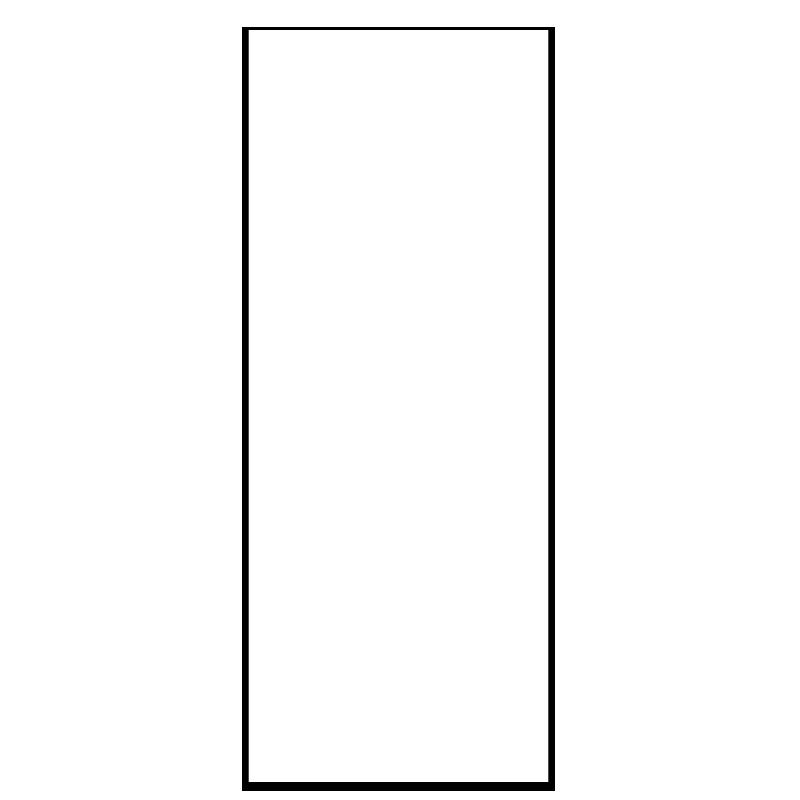 Sticker tableau blanc classique rectangulaire pour portes for Stickers porte blanc