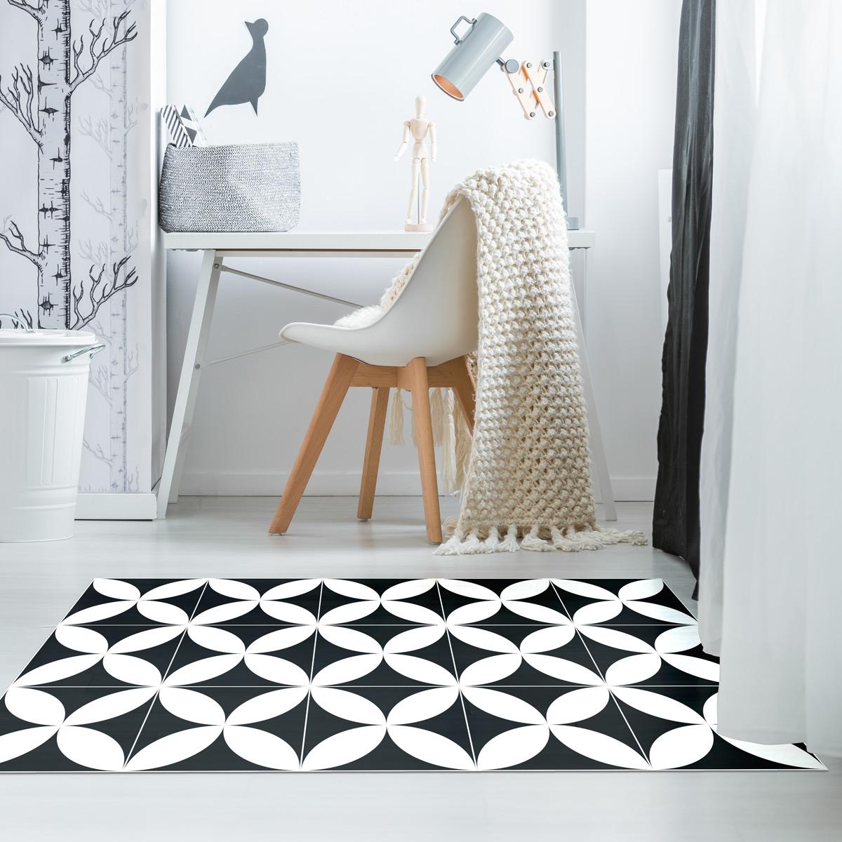 tapis vinyle carrelages classico 60 x 100 cm stickers art et design artistiques ambiance. Black Bedroom Furniture Sets. Home Design Ideas