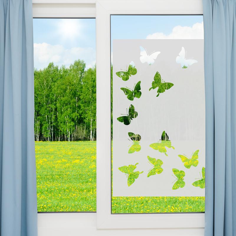 Stickers muraux pour portes de douche papillons - Stickers fenetre cuisine ...