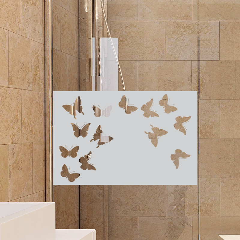 Stickers muraux pour portes de douche papillons - Stickers porte salle de bain ...