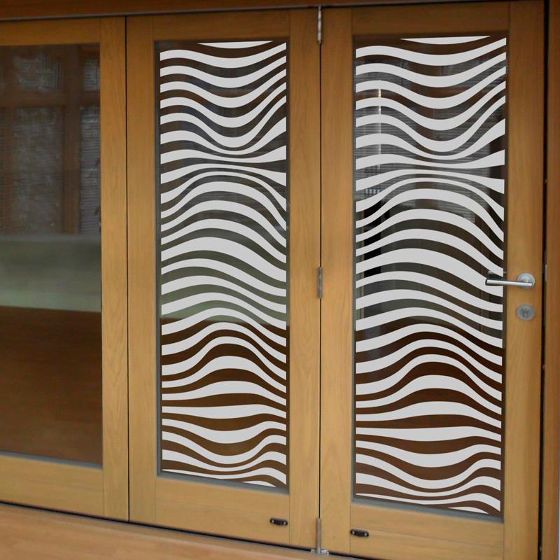 stickers muraux pour portes de douche illusion optique. Black Bedroom Furniture Sets. Home Design Ideas