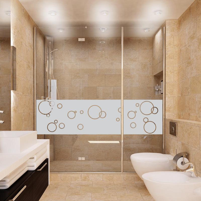 Stickers muraux pour portes de douche bulles de savon 200x55cm - Stickers pour porte de douche ...