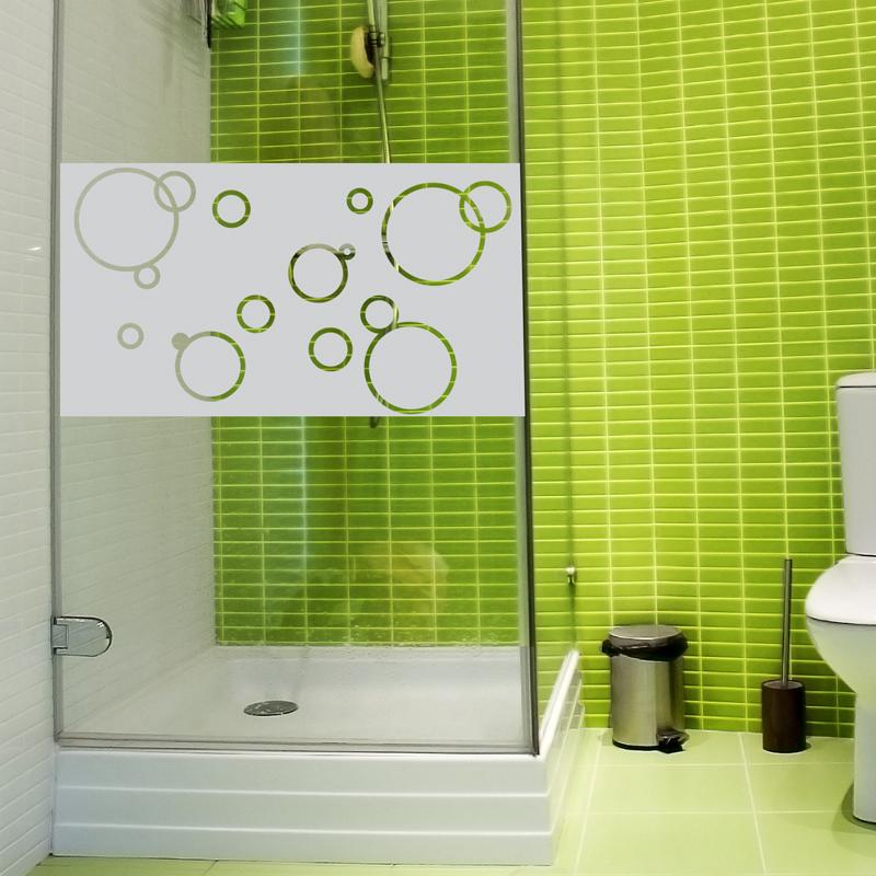 stickers muraux pour portes de douche bulles de savon 100x55cm. Black Bedroom Furniture Sets. Home Design Ideas