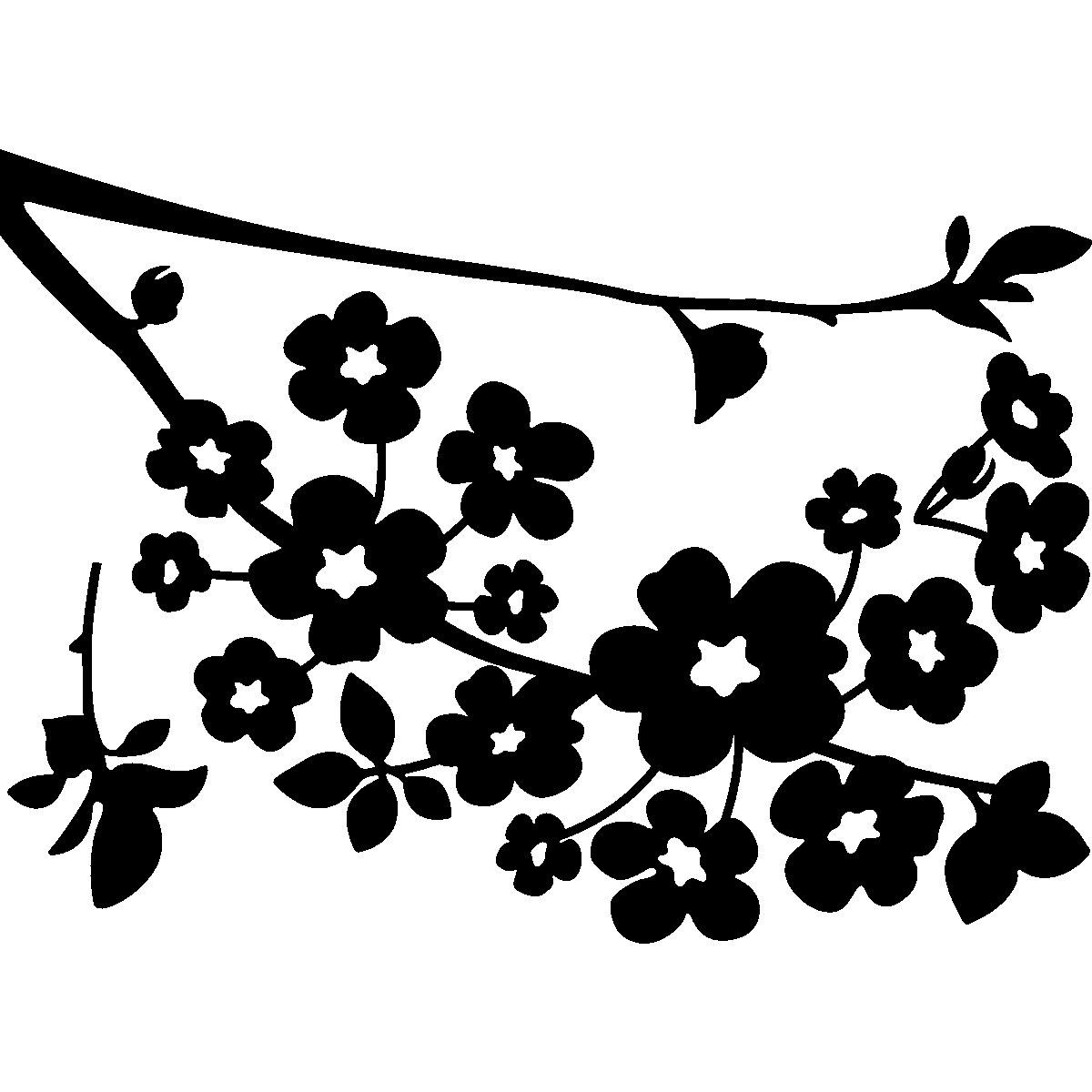 free cherry blossom tree coloring pages