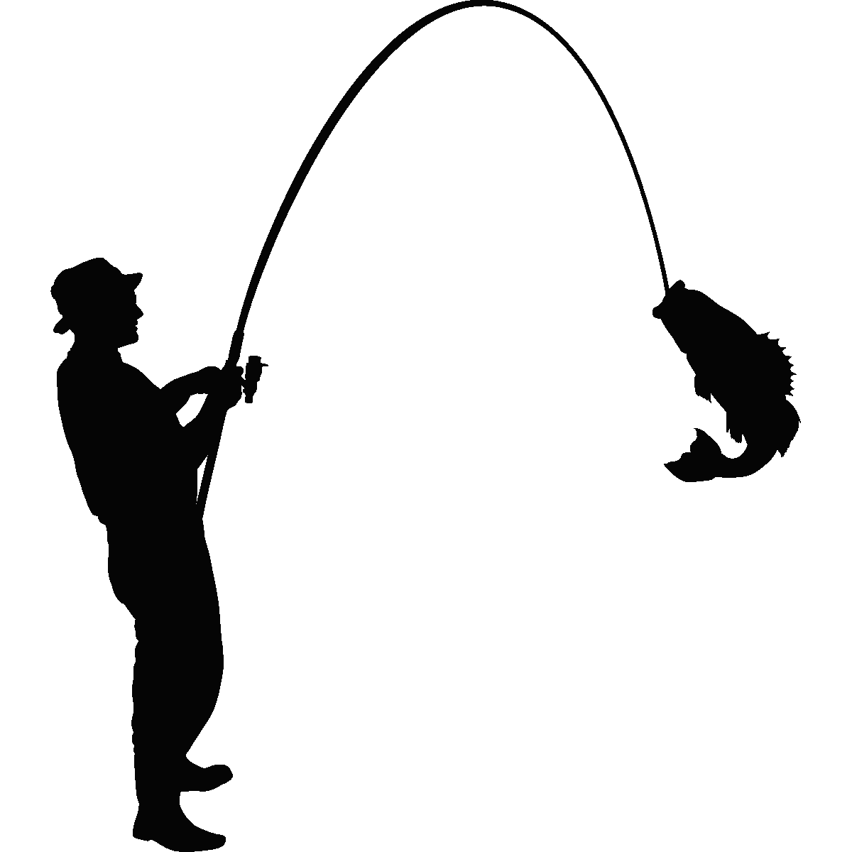 Fisherman silhouette png - photo#1