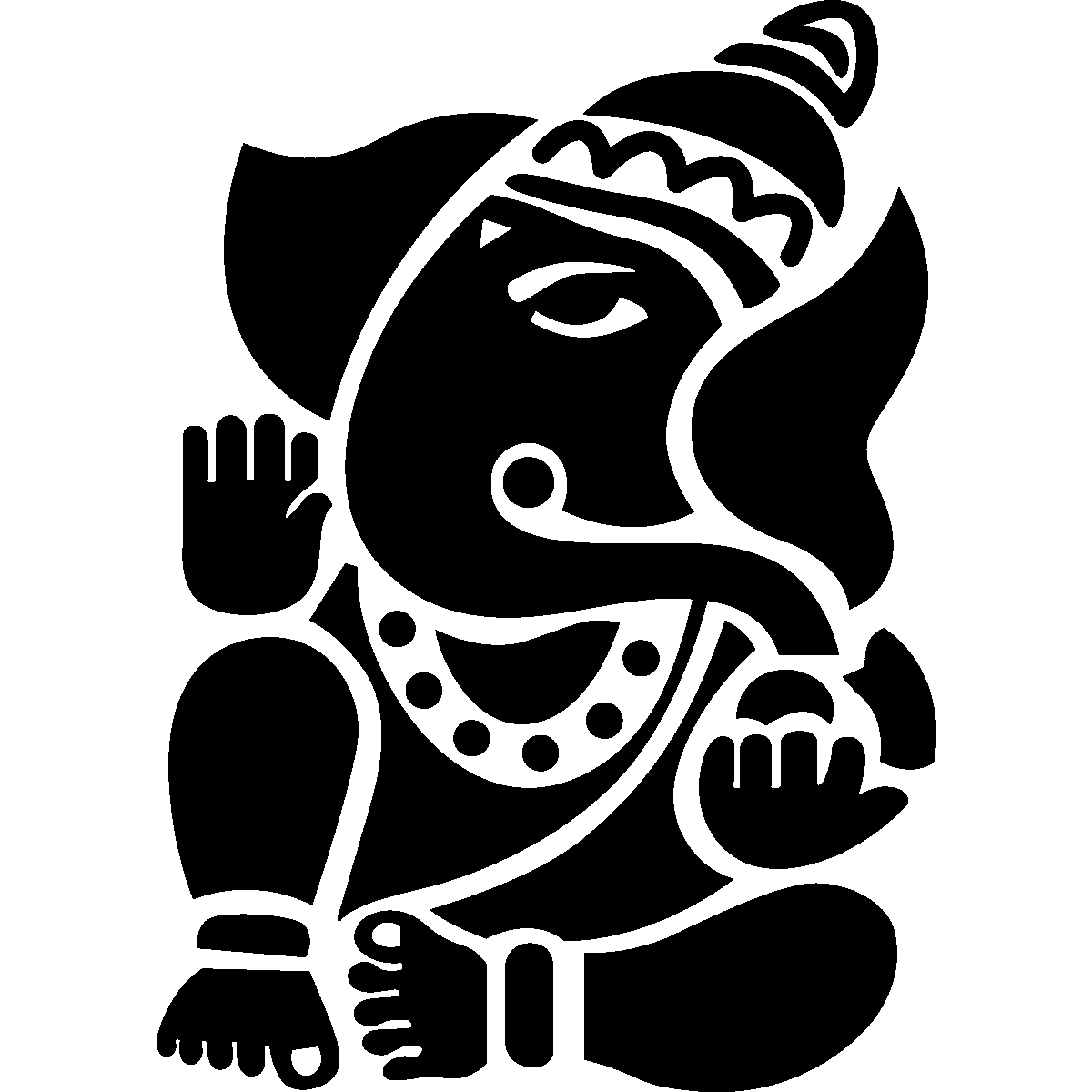 You Will Need Mason Jar Glow In The Dark Paint Cut out Of Ganesha