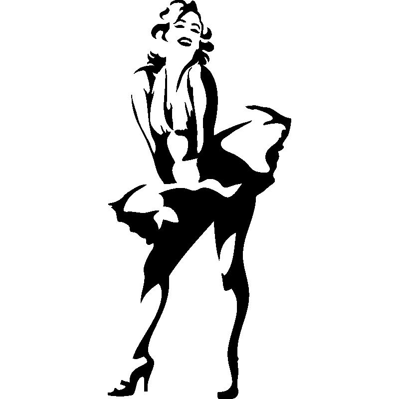 Sticker Avec Marilyn Monroe