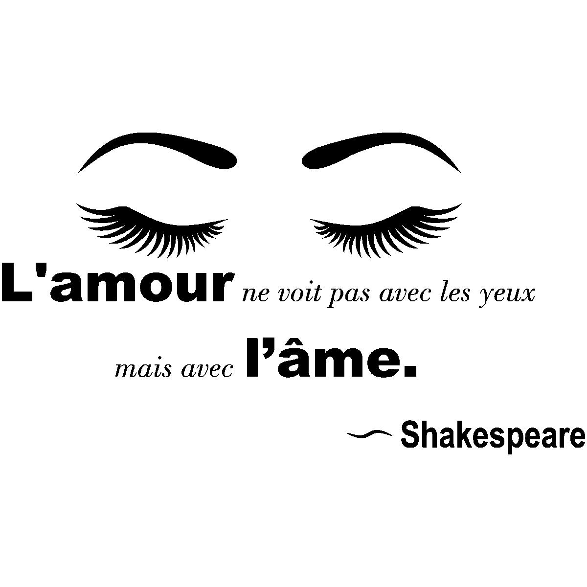 Sticker Citation Amour Lamour Ne Se Voit Pas Shakespeare