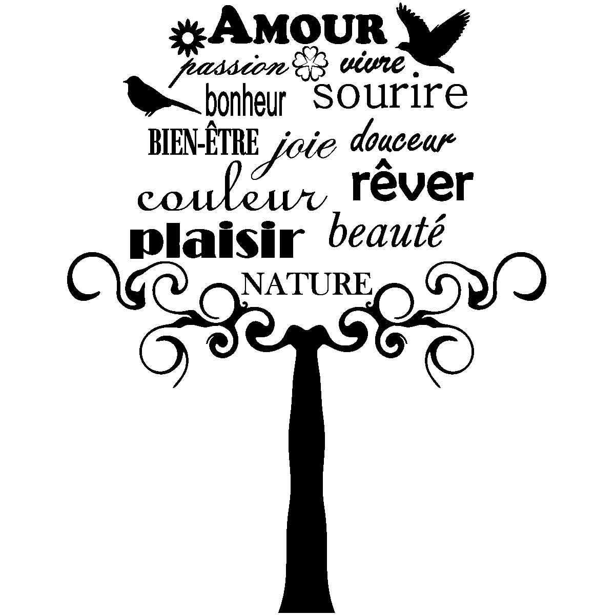 Sticker Citation Amour Passion Vivre
