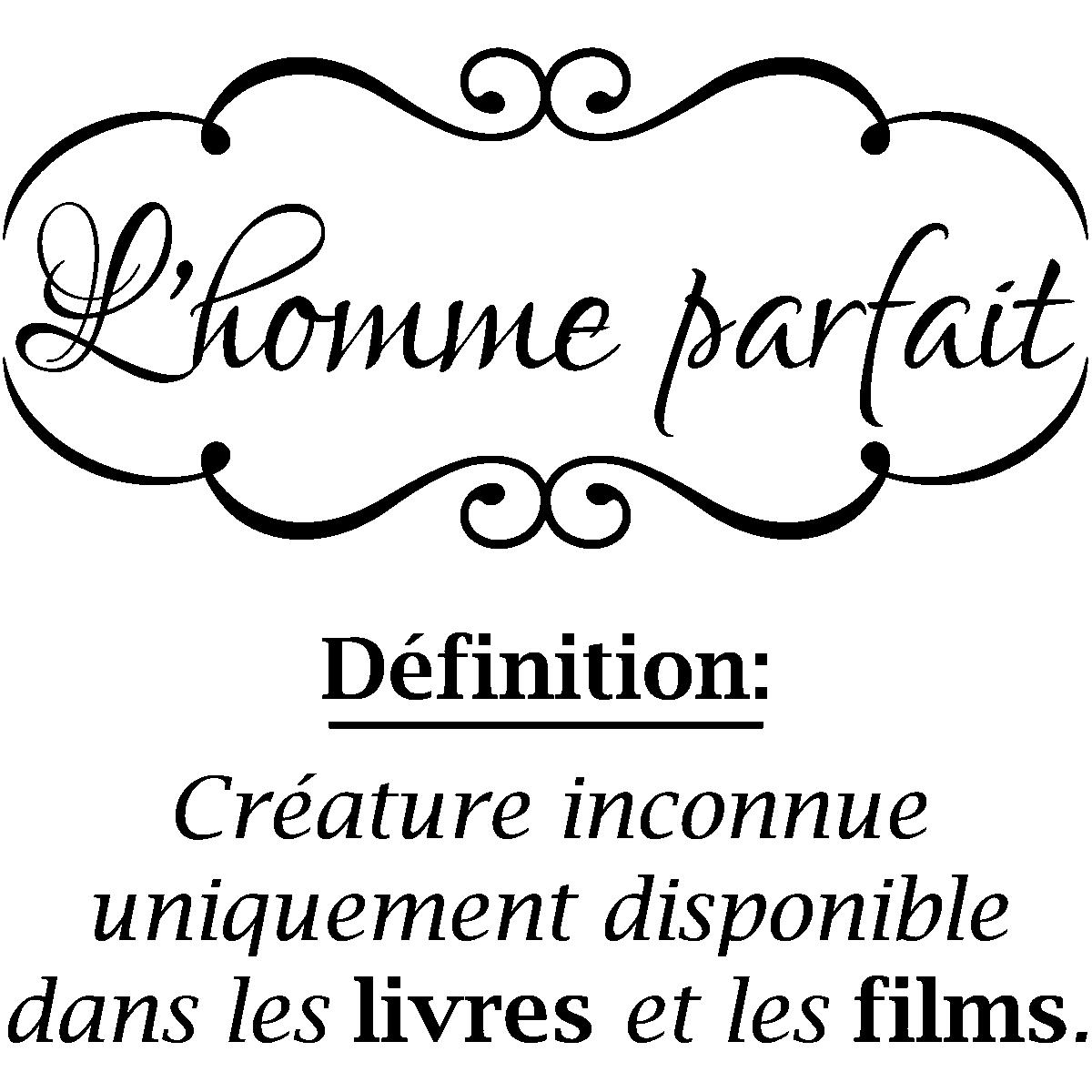 Sticker Citation L Homme Parfait
