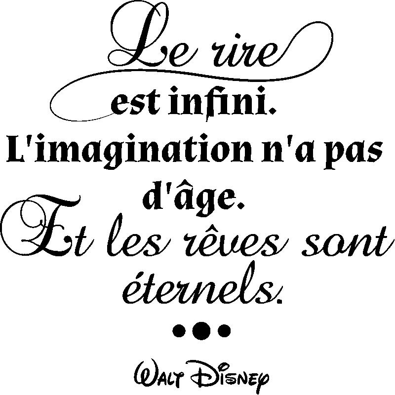 Sticker Citation L Imagination N A Pas D âge Walt Disney