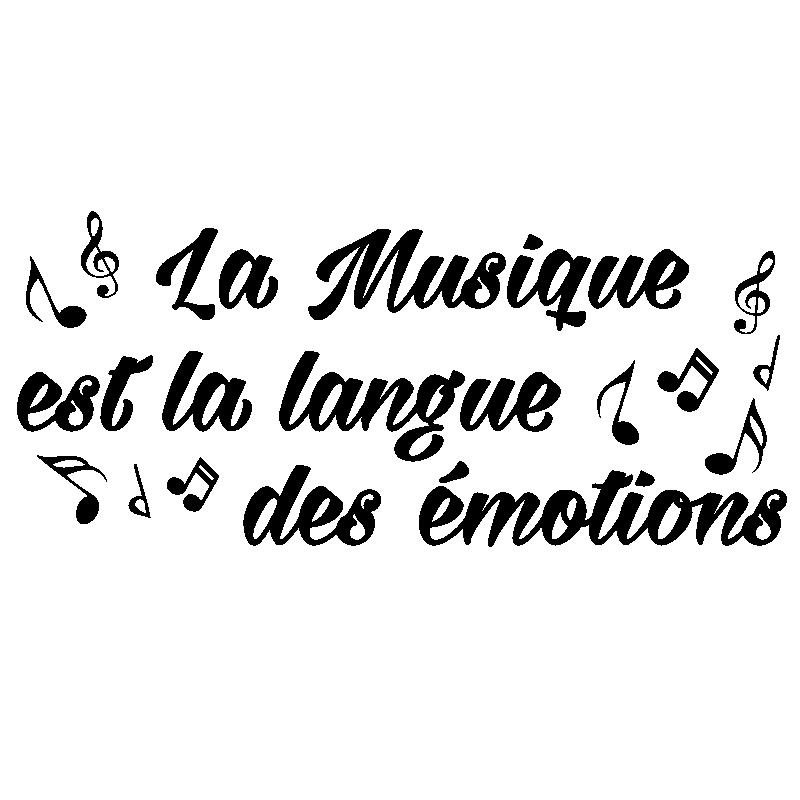 Sticker Citation La Musique Est La Langue Des émotions