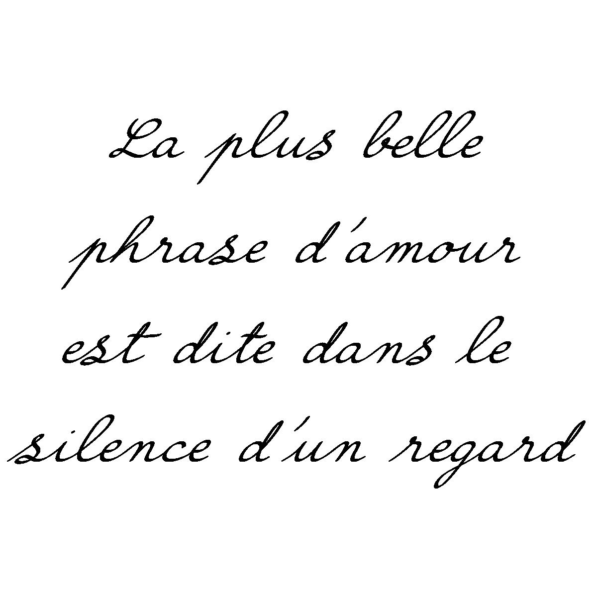 Sticker Citation La Plus Belle Phrase D Amour