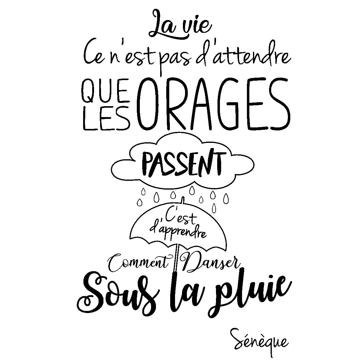 Sticker Citation La Vie Ce N Est Pas D Attendre Sénèque