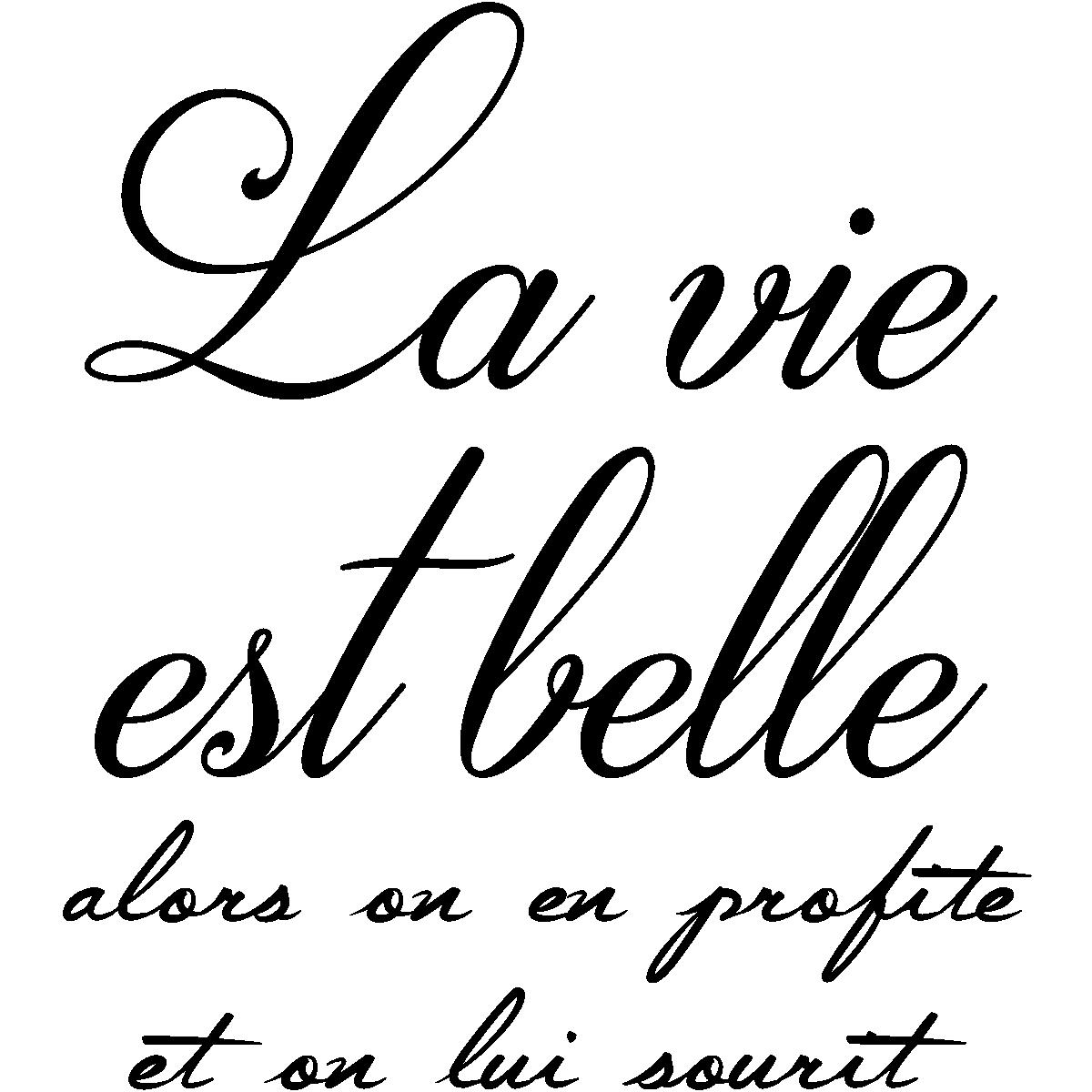 Sticker Citation La Vie Est Belle Alors On En Profite Stickers