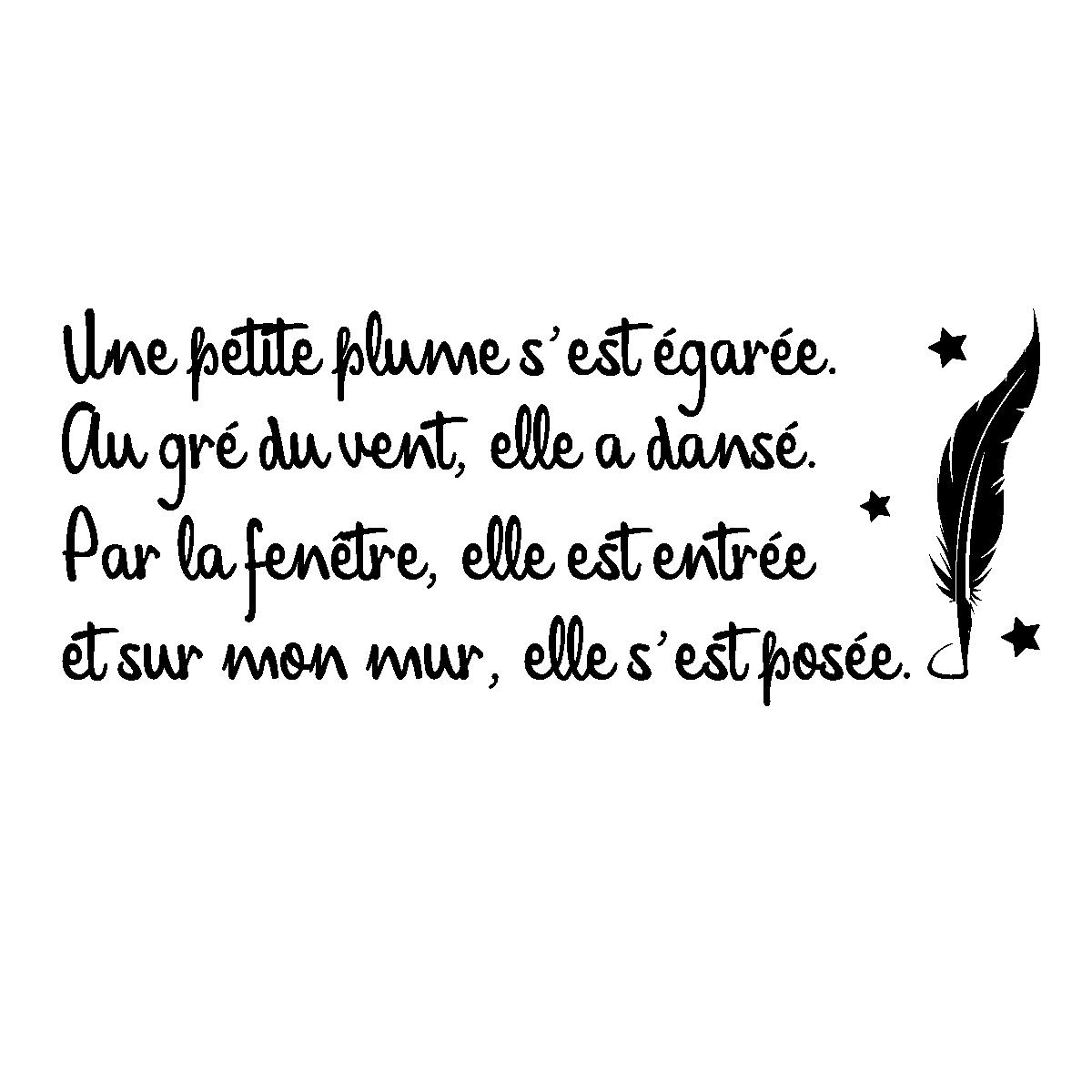 Sticker Citation Poésie Une Petite Plume