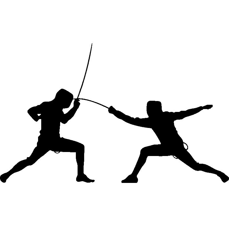Un duel d'escrime artistique
