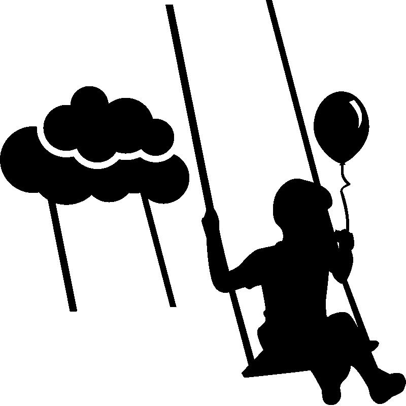 Sticker Enfant Sur Une Balançoire
