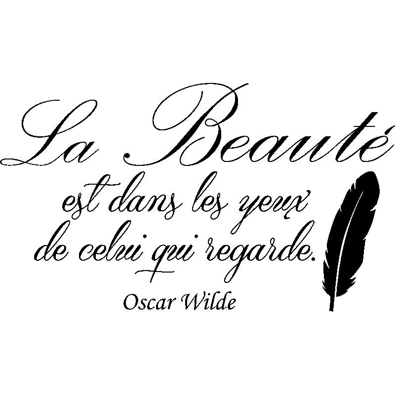 Sticker La Beauté Est Dans Les Yeux De Celui Qui Regarde