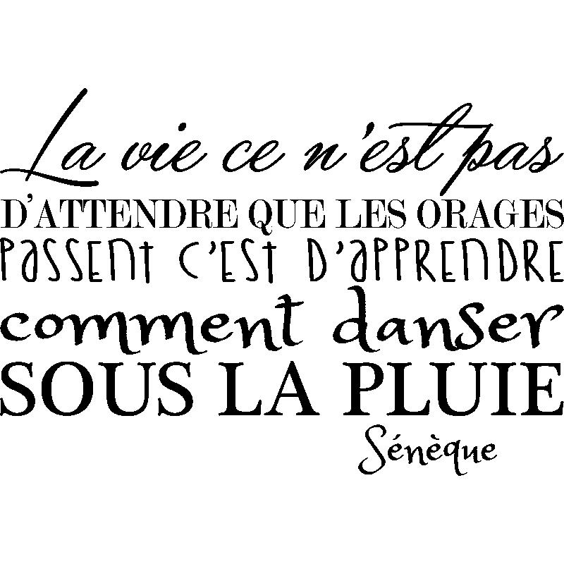 Sticker La Vie Sénèque Ii