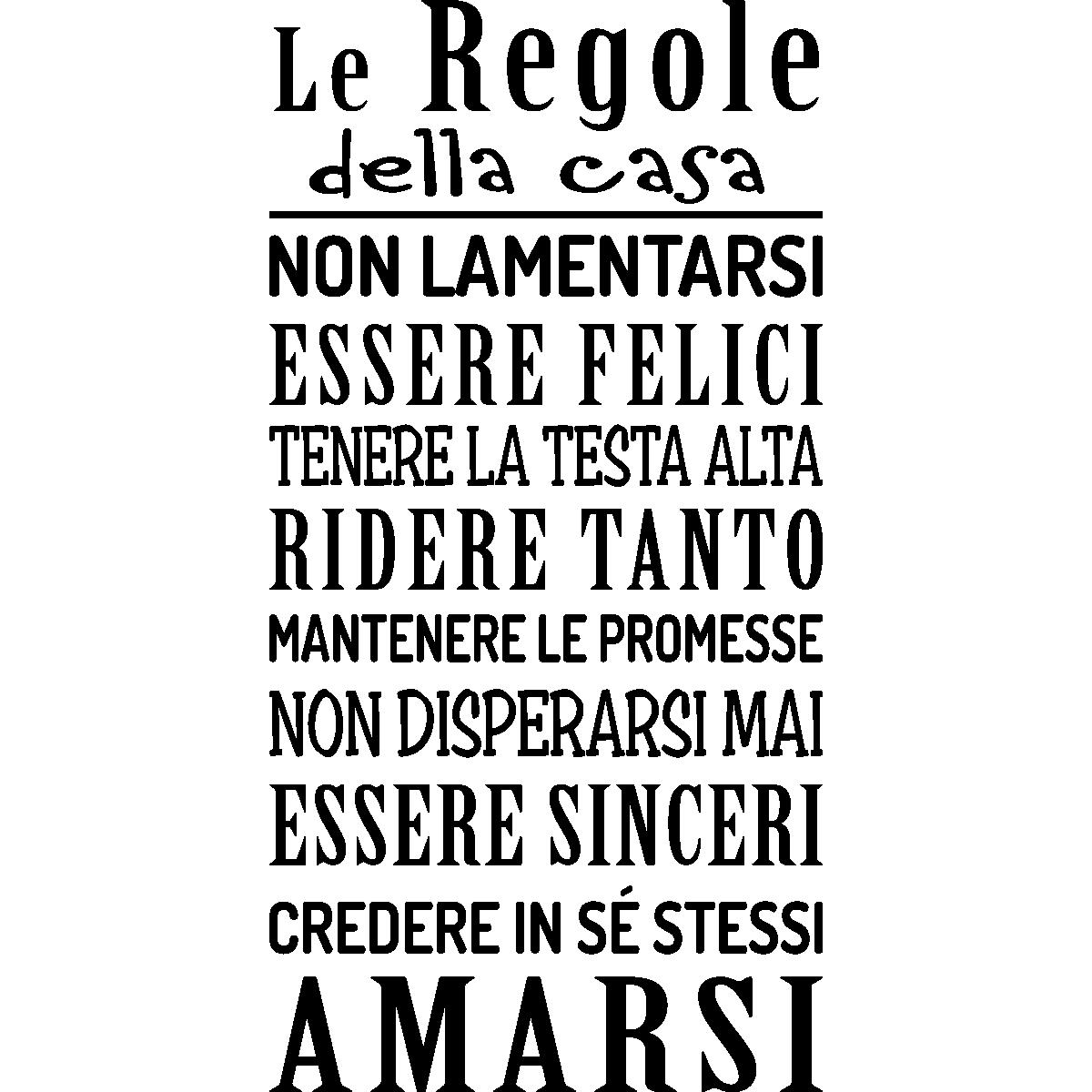 Sticker Le Regole Della Casa