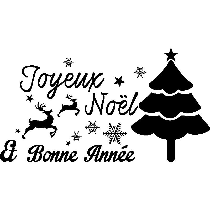 Sticker Noël Joyeux Noël Et Bonne Année