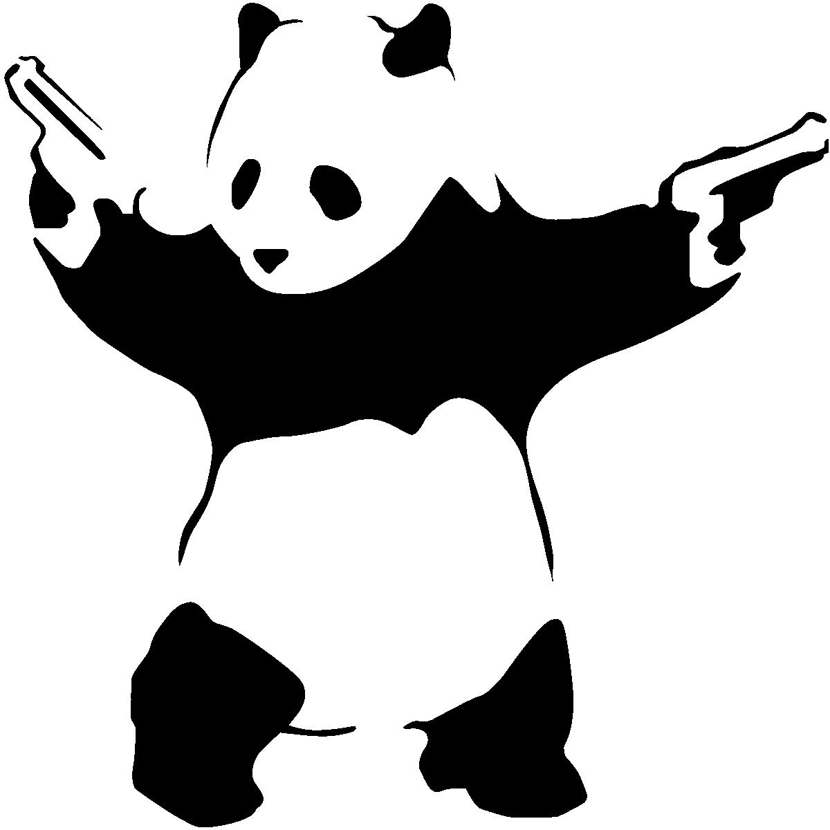 Sticker Panda Armé