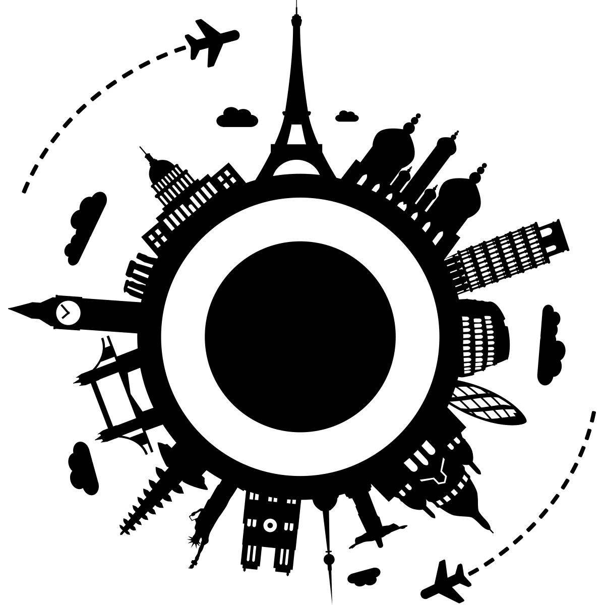 Tete De Lit Orientale Maison Du Monde sticker villes tour du monde monuments