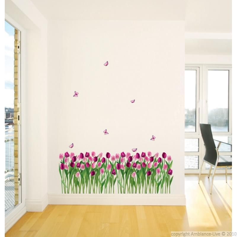 stickers fleur tulipes stickers muraux nature. Black Bedroom Furniture Sets. Home Design Ideas