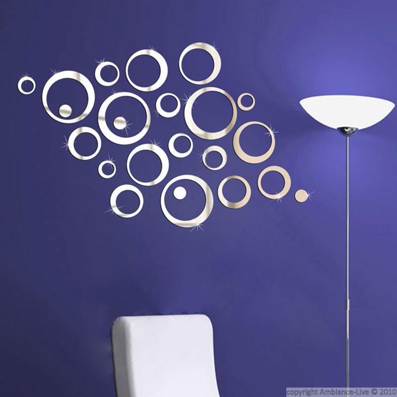sticker miroir anneaux designs stickers art et design bulles et cercles ambiance sticker. Black Bedroom Furniture Sets. Home Design Ideas
