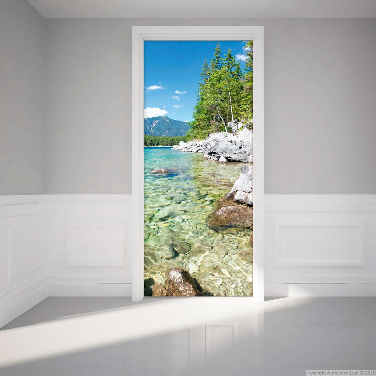 Sticker porte 204 x 83 cm lac de cristal stickers for Stickers pour porte de chambre