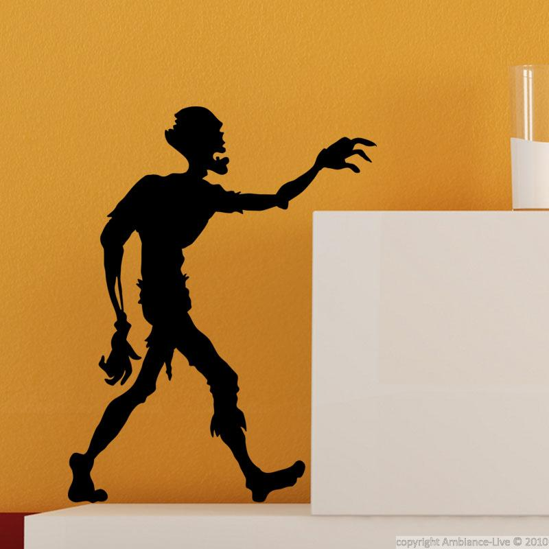Wall Decal Zombie Silhouette Wall Decal Music Amp Cinema Silhouettes Ambiance Sticker